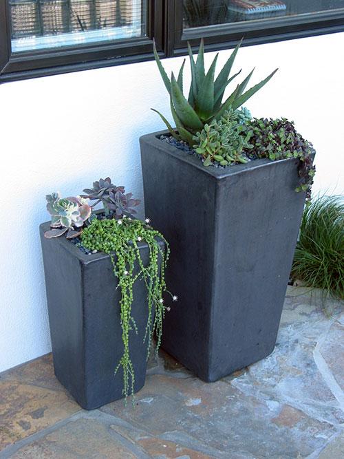 Matte Black Planters
